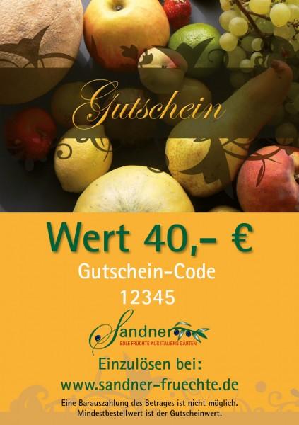 Geschenk-Gutschein 40 €